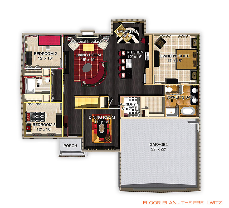 Floor Plan - The Prellwitz