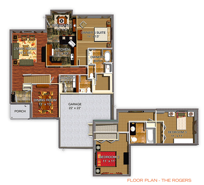 Floor Plan - The Rogers